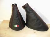 ALFA ROMEO MiTo - Cambio e Freno Nero - Cuciture Tricolore