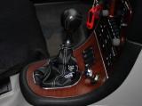 Cuffia leva cambio Alfa Romeo 166 vera pelle nera ricamo