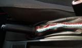 Cuffia leva freno Alfa Romeo 156 2° serie vera pelle nera   tric