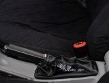 Cuffia leva freno a mano Alfa Romeo 166 vera pelle nera ricamo