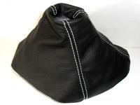 cuffia cambio astra H pelle nera cuciture bianche
