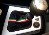 cuffia leva cambio Alfa Romeo 156 2° serie vera pelle nera   tri