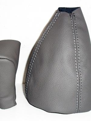 Classe A W 168 cuffia cambio e rivestimento pomello pelle grigia