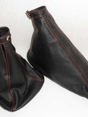 alfa romeo 156 2° serie cuffie cambio e freno pelle rossa personalizzata