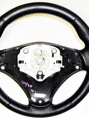 BMW e90 e91 rivestimento volante vera pelle nera cuciture M spor