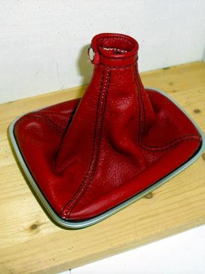 cuffia cambio alfa romeo Giulietta pelle rossa