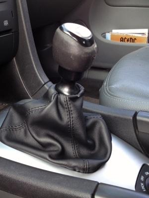 Cuffia leva cambio Saab 9 3 sport sedan vera pelle nera