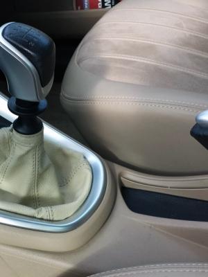 Cuffia leva cambio Lancia Delta vera pelle bejge