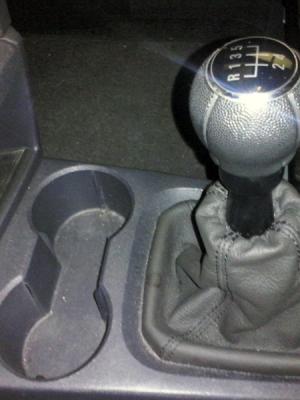 Cuffia leva cambio Opel Meriva A vera pelle antracite