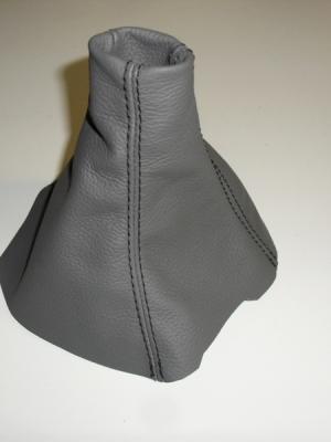 Cuffia leva cambio Opel Zafira B vera pelle grigia antracite