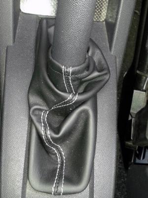 Cuffia leva freno Opel Meriva A vera pelle nera